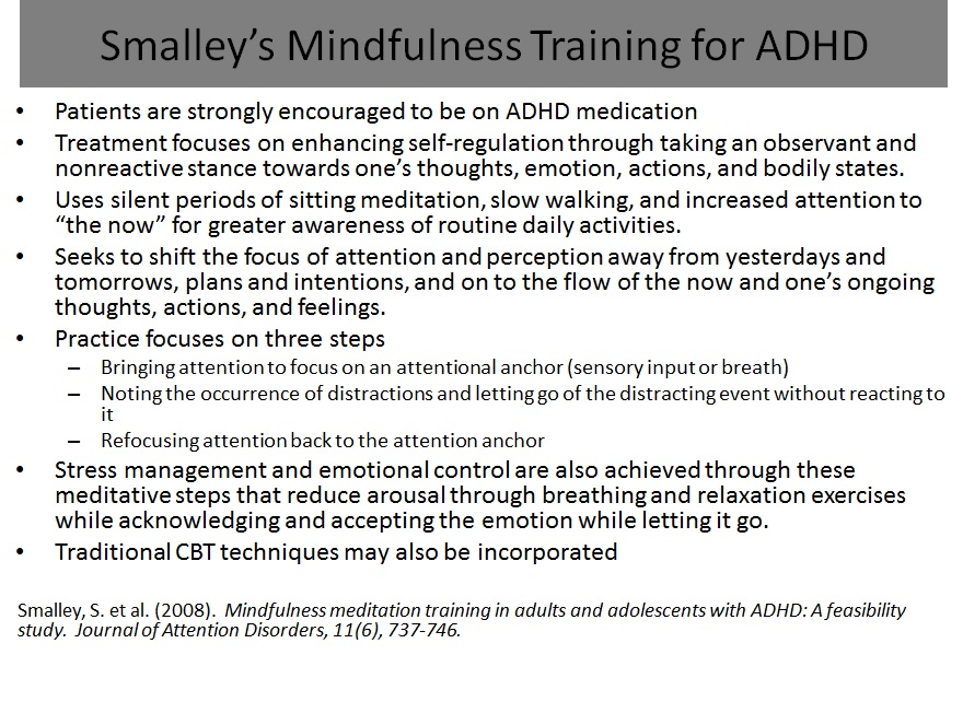 Managing adult adhd by russell a barkley phd abpp a somewhat different approach that has received more attention recently is the mindfulness meditation method developed by lydia zylowska and colleagues see fandeluxe Images